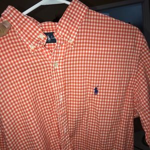 Checkered polo button down